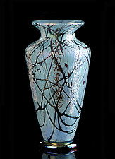 Turquoise Cherry Blossom by Bryce Dimitruk (Art Glass Vase)