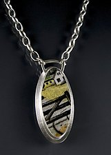 Oval Meadow Necklace by Amy Faust (Silver & Ceramic Necklace)