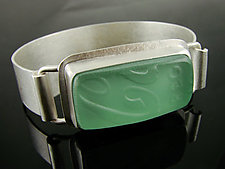 Cuff Bracelet by Amy Faust (Art Glass Bracelet)
