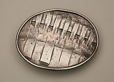 Hand Forged Silver Belt Buckle II by Nancy Worden (Silver Belt Buckle)