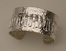 Sterling Silver Fringe Cuff by Nancy Worden (Silver Bracelet)