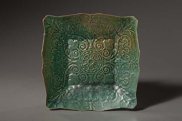 Finch Green Lace Plate