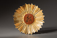 Sunflower Platter by Angelia Hayes (Ceramic Platter)