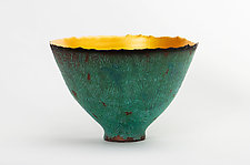 Patina Prosperity Bowl by Cheryl Williams (Ceramic Bowl)