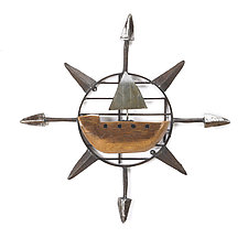 Sailboat Compass by Ben Gatski and Kate Gatski (Metal Wall Sculpture)