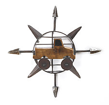 Truck Compass by Ben Gatski and Kate Gatski (Metal Wall Sculpture)