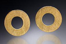 Gold Circle Earrings by Nina Mann (Gold & Silver Earrings)