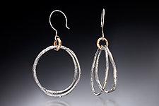 Double Hoop Earrings by Nina Mann (Gold & Silver Earrings)
