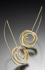 Shepherd's Hook Swirl Earrings in Vermeil by Lori Gottlieb (Gold Earrings)