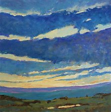Skyline Yellows and Blues by Ken Elliott (Oil Painting)