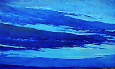 Blue Skyscape by Ken Elliott (Oil Painting)