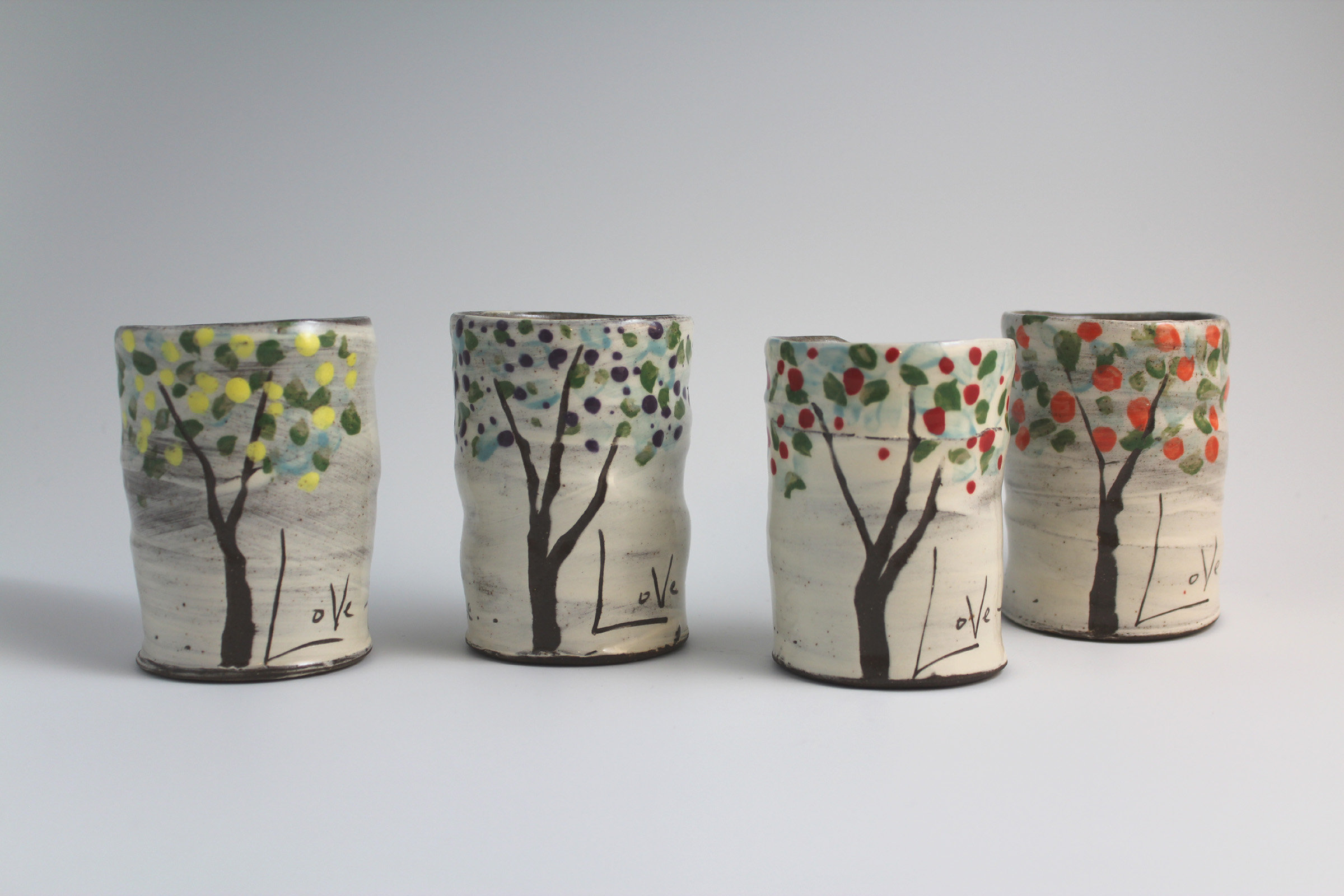 Fruit Trees Mug Set By Noelle VanHendrick And Eric