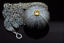 Maine Round Yellow by Hratch Babikian (Silver & Stone Necklace)