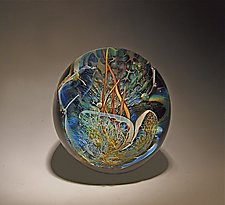 Grotto Paperweight by Robert Burch (Art Glass Paperweight)