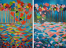 Night and Day by Melissa Leaym-Fernandez (Oil Painting)