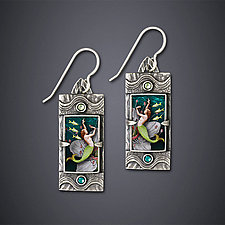 Dance of the Kelpies Earrings by Dawn Estrin (Silver Earrings)