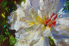 White Flower, Pink Stamen by Frank  Satogata (Dye Sublimation Print)