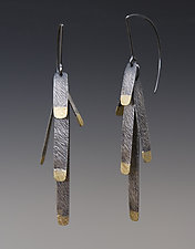 Pine Needle Earrings by Heather Guidero (Gold & Silver Earrings)