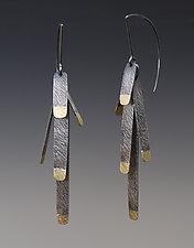 Pine Needle Earrings by Heather Guidero (Gold & Silver Earrings)