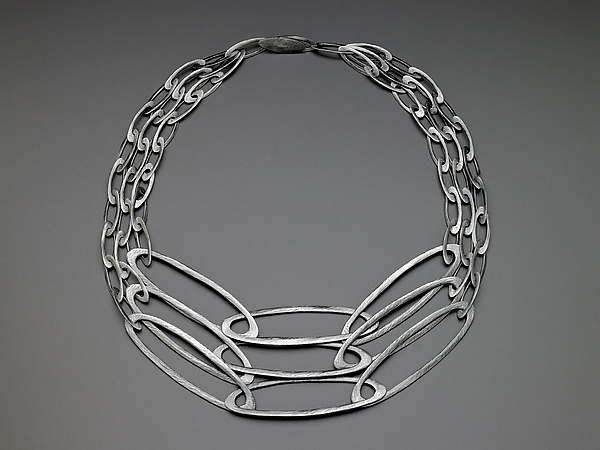 Three Strand Carved Ovals Necklace