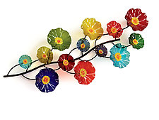 Prism Wall Vine by Scott Johnson and Shawn Johnson (Art Glass Wall Sculpture)