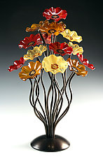 Breckenridge Tree by Scott Johnson and Shawn Johnson (Art Glass Sculpture)