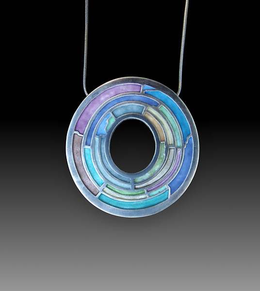 Labyrinth Pendant By Carly Wright Silver Amp Enamel