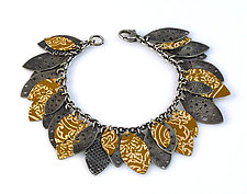 Leaf Song Bracelet by Beth Taylor (Silver & Tin Bracelet)