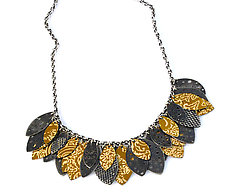 Leaf Song Necklace by Beth Taylor (Silver & Tin Necklace)