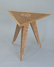 Triangle Table 1 by Charles Adams (Wood Side Table)