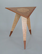 Triangle Table 2 by Charles Adams (Wood Side Table)