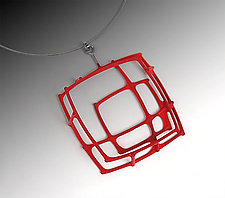 Large Square Pendant by Donna D'Aquino (Silver Necklace)