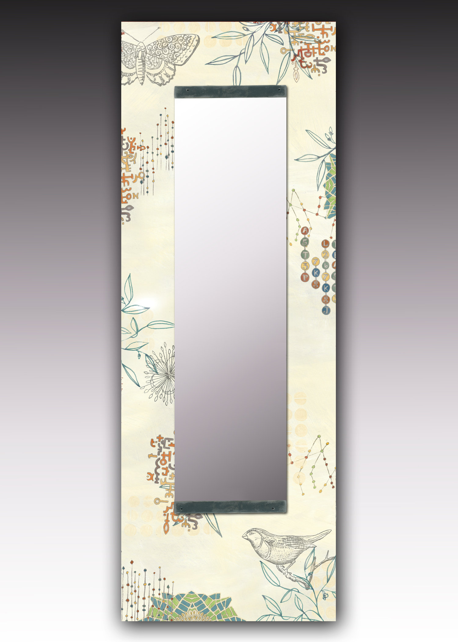 Journeys Wall Mirror by Janna Ugone and Justin Thomas (Mixed-Media Mirror)