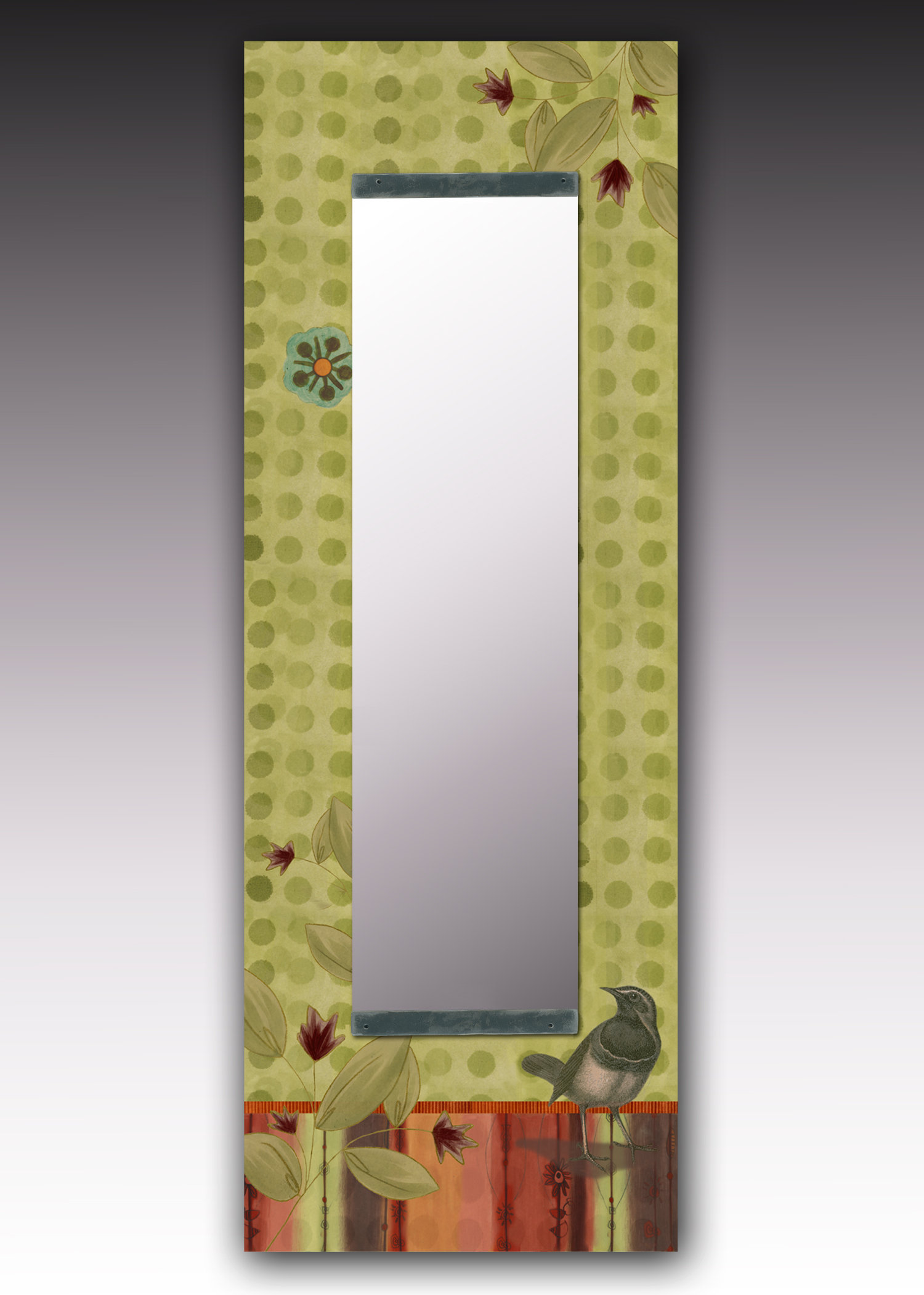 Bird in Lymon Wall Mirror by Janna Ugone and Justin Thomas (Mixed-Media Mirror)