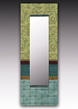 Paradise in Pool Wall Mirror by Janna Ugone and Justin Thomas (Mixed-Media Mirror)