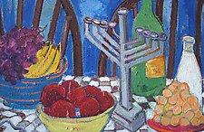 Hanukkah Still Life by Elisa Root (Oil Painting)