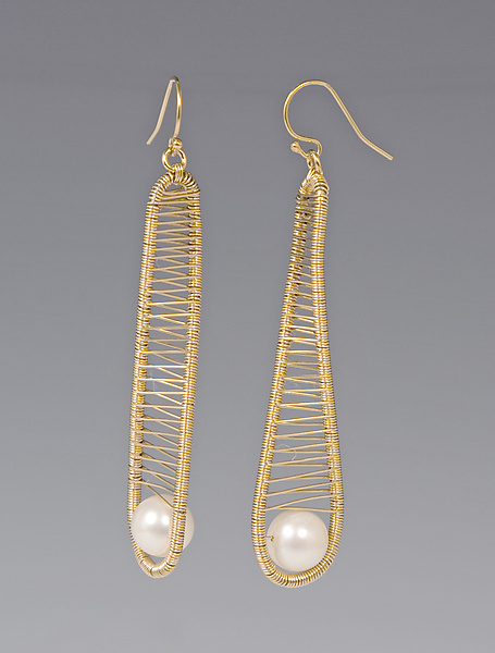 Gold-filled Earrings with Pearl