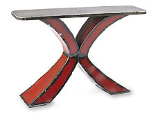 Red X Console by Ben Gatski and Kate Gatski (Metal Console Table)