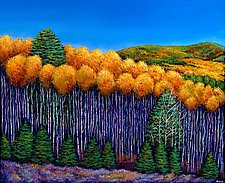 Aspen Slopes by Johnathan  Harris (Giclee Print)