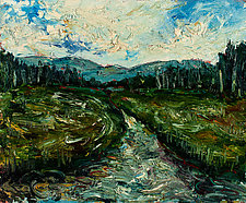 Schroon Marsh Adirondacks 7o1 by Jonathan Herbert (Oil Painting)