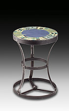 New Capri Periwinkle Accent Table by Janna Ugone and Justin Thomas (Mixed-Media Side Table)