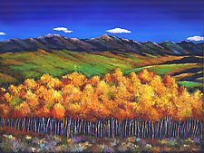 Aspen in the Wind by Johnathan  Harris (Giclee Print)
