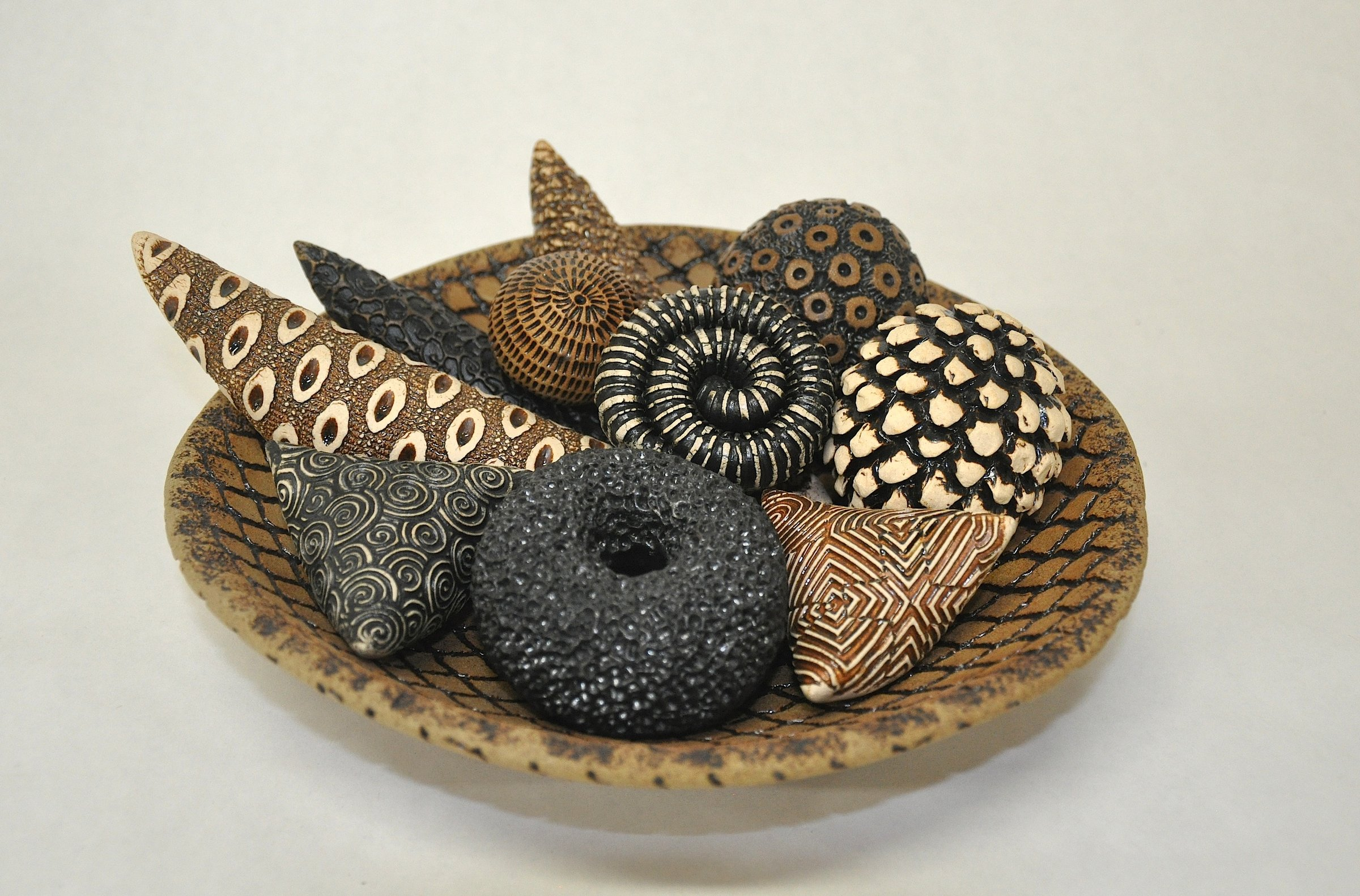 Earth Toned Bowl and Rattles by Kelly Jean Ohl (Ceramic Sculpture ...