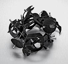 Shield Cuff by Kathleen Nowak Tucci (Rubber Bracelet)