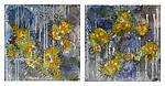 Phormidium Diptych by Joanie San Chirico (Acrylic Painting)