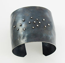 Faux Diamond Cuff by Dennis Higgins (Silver & Steel Bracelet)