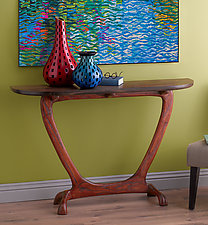 Bella Table by Brian Fireman (Wood Console Table)