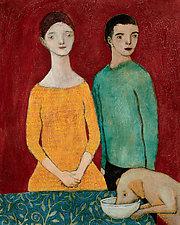 Les amoureux avec le chien by Brian Kershisnik (Giclee Print)