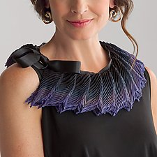 Feather Pleated Small Collar by Anne Vincent  (Silk Scarf)