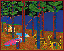 Jack Pine camp by Charles Munch (Giclee Print)